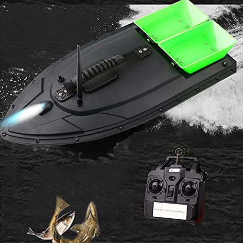HIMAPETTR Kabelloses Köderboot, Fernbedienung Fischfinder, Angelgerät Zubehörsatz, 500m Entfernung GPS Cruise, 5200mah Upgrade-akku, Wasserdichter Und Sturzsicherer
