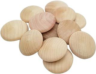 iplusmile 2 x 25 piezas tapones de madera con botones superiores tapones de madera para agujeros de madera para muebles escalera madera dura