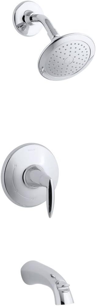 Kohler TS45104-4E-CP Rite-Temp bath and shower trim with l Super sale period limited valve trend rank