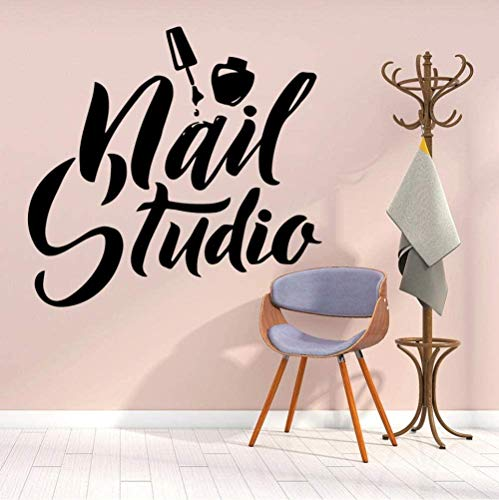 Muurstickers Art Decal Vinyl Murals Beauty Polish voor nagellak Tudio Logo Manicure Pedicure 43X45cm