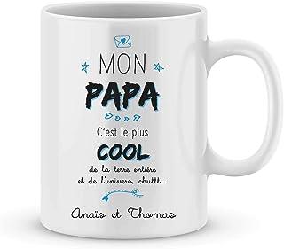 Mug fête des pères - mug à personnaliser avec votre prénom - idée cadeau fête des pères