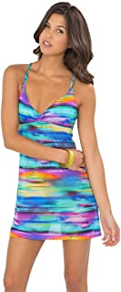 CIELITO Lindo - Knotted Net Back Sea Side Dress - XS/Multicolor