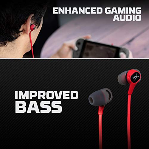 HyperX Cloud Earbuds - Gaming Headphones with Mic for Nintendo Switch and Mobile Gaming