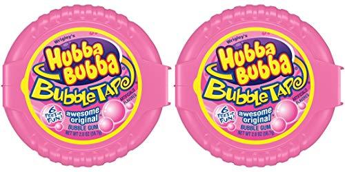 【海外直送】バブルガム テープの様に長~いガム 各1.82メートル 2個セット Hubba Bubba Bubble Gum Tape Wrigley Qty2