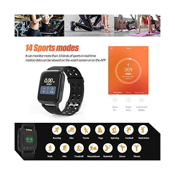 Reloj Inteligentes, YAGALA IP68 Smartwatch, Pulsera Deportiva Inteligente Para Niños y Niñas, Con Contador De Calorías… 6