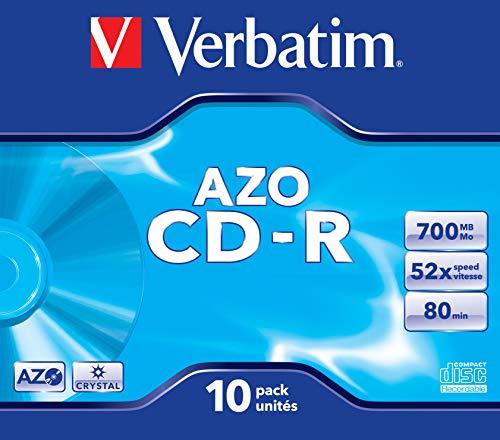 Verbatim 1x10 Data Life plus CD-R 80/700MB, 52x Speed JC