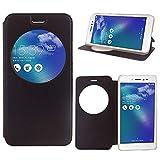 Annart Schutzhülle für Asus Zenfone Live ZB501KL 5,0 Zoll, Schutzhülle mit Sichtfenster, Lederhülle, für Asus Zenfone Live ZB501KL 5,0 Zoll / Zenfone 3 GB, Schwarz