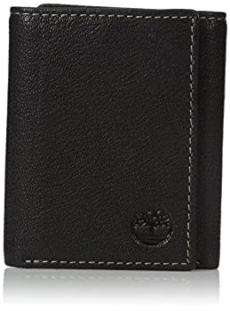 Timberland Men s Genuine Leather RFID Blocking Trifold Security Wallet Black One Size