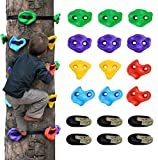12 Ninja Tree Climbing Holds for Kids Climber, Adult Climbing Rocks with 6 Ratchet Straps for Outdoor Ninja Warrior Obstacle Course Training