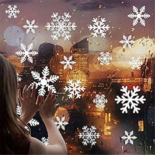 ZesNice 135 Fensterbilder Weihnachten Selbstklebend Fensterdeko Fensteraufkleber Schneeflocken Weihnachtsdeko Statisch Haftende PVC Abnehmbare Aufkleber Fenster Deko Christmas Decorations