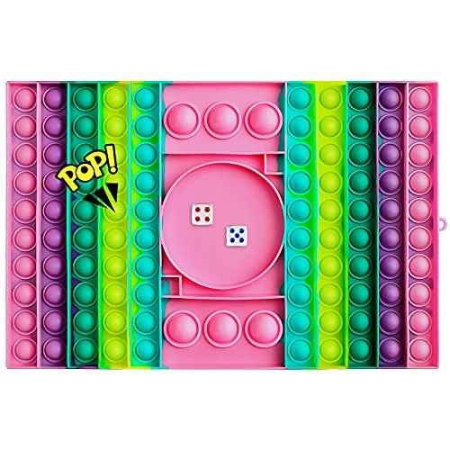 VOFOLEN Scacchiera Pop Push It Bubble Sensoriale Fidget Giocattolo, Push Antistress Arcobaleno Spremere Giocattoli Silenzioso Aula Allenamento Logico Giocattoli per Bambini,Schachbrett
