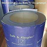 Transparente PVC Folie Tischdecke 1mm dick Breite & Länge wählbar 70 x 110 cm [+Toleranz] abwaschbare Folie Schutztischdecke - Made in Germany - 2