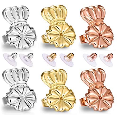 Original Magic Earring Backs For Earrings | Ear Support Earing Lifters | Lifts Heavy Back Lobe Backing Bax | Secure Earlobe Bullet lifter