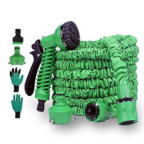 PECHTY Tubo da Giardino, 100FT 30M Tubo Estensibile da Giardino, Tubo irrigazione Flessibile Tubo da Giardino con Pistola a Spruzzo 8 Funzioni per Lavaggio Auto, Irrigazione Giardino
