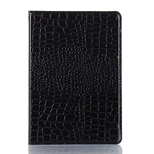 SHENGZHENHAOLIJJYPSH Crocodile Leather Interchange Stand Light-Weight Tablet Case Cover Compatible with iPad Air (3rd Gen) 2019 / iPad Pro 10.5 2017 (Color : Black)