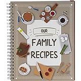 Pipilo Press - Libro de recetas en blanco «Our Family Recipes» (16,5 x 20,8 cm)