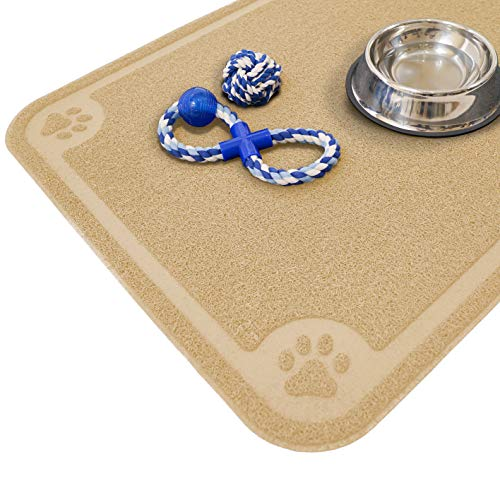 Cavalier Pets Pet Feeding Mat Beige, XXL