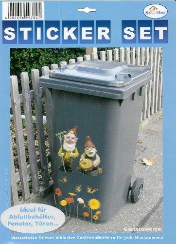 My Home Mülltonnen-Sticker
