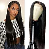Maxine Hair 4x4 Lace Closure Wig 22 inch Wig Straight Human Hair Wigs For Women Pre Plucked With Baby Hair Glueless Remy Lace Wig