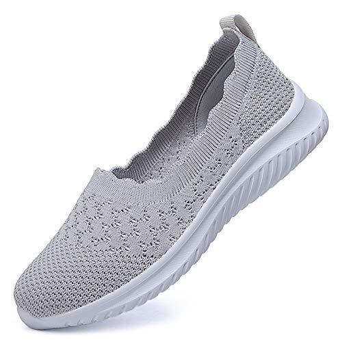CAGAYA Zapatillas deportivas para mujer, transpirables, para el tiempo libre, para caminar, fitness, gimnasia, gimnasia, ligeras., color, talla 38 EU
