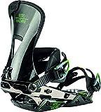 Nitro Snowboards Herren Machine '20 Premium Highend Freeride Carving Bindung Snowboardbindung, Attacco per Snowboard. Uomo, Carbonio Nero, M