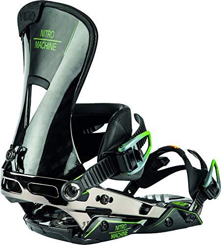 Nitro Snowboards Herren Machine '20 Premium Highend Freeride Carving Bindung Snowboardbindung, Black Carbon, M