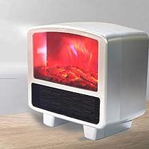 XJZHANG Llama Chimenea Calentador Calentador 3D Speed Hot Plug-In Small Office Home Calentador Eléctrico