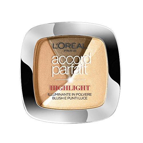 L'Oréal Paris Accord Parfait Cipria Illuminante, 102 Dorato
