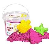 GenioKids Smart Sand Kinetic Play Modelado Arena Interior 0,5 kg (rosa)