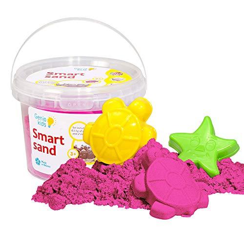 GenioKids Smart Sand Kinetic Play Modeling Indoor Sand Knete 0,5 kg (pink)