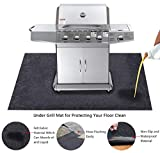 KALASONEER Under The Grill Mat,Absorbent Fabric Material,Washable,Reusable,Anti-Slip and Waterproof Backing,Protection for Decks and Patios from Grease Splatter and Other Messes (36inches x 60inches)