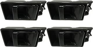 OCPTY Door Handles Interior Driver Passenger Side Replacement fit 1986-1994 Nissan D21 1995-1997 Nissan Pickup Inside Door Handles Black(4pcs)