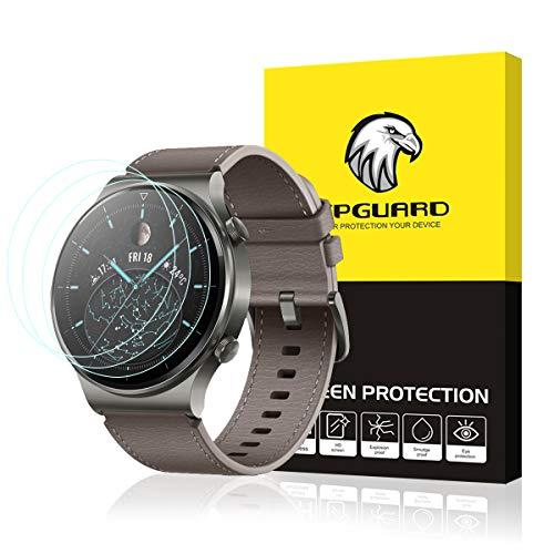Aimtel - Protector de pantalla compatible con Huawei Watch GT 2 Pro [3 unidades] dureza 9H antiburbujas, antiarañazos, protector de pantalla de vidrio templado para Huawei Watch GT 2 Pro