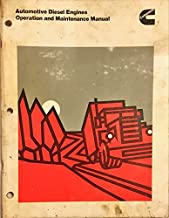 Cummins Automotive Diesel Engines Operation and Maintenance Manual Bulletin No. 3379070-03 Printed in USA 1-77