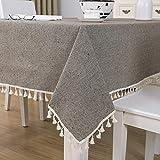 sans_marque Mantel, mantel lavable, cubierta de mesa de comedor, mantel moderno, decoración de mesa de cocina con estilo 140 x 260 cm