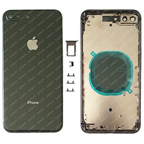 Back Cover Telaio SCOCCA Posteriore Vetro iPhone 8 Plus A1864 A1897 A1898 Nero