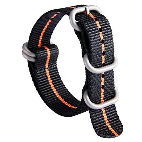 NATO Zulu Watch Strap Thick G10 Premium Ballistic Nylon cinturini per...