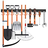HORUSDY 64 Inch Adjustable Storage System, Wall Mount Tool Organizer, Tool Hangers for Mop and Broom Holder Shovel, Rake, Broom, Mop Holder, Etc.