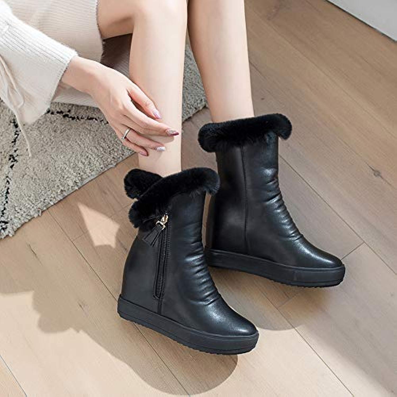 AGECC Kurze Stiefel Und Stiefeln Aus Baumwolle In Dicken, Flachen Stiefeln.