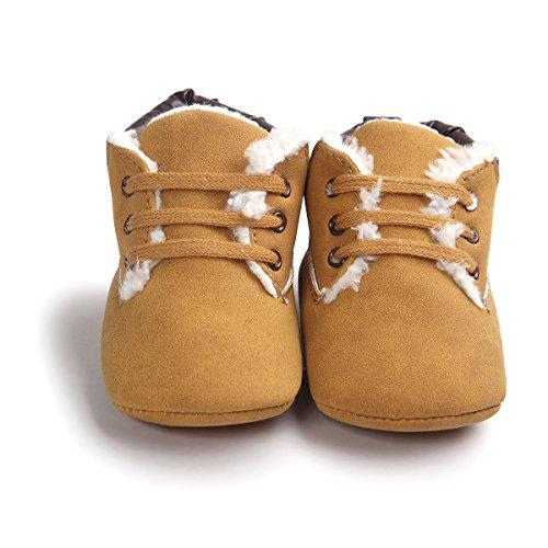 Tukistore Scarpine neonato Scarpe da Bambino Baby Ragazzo Shoes Sneaker Antiscivolo Morbida Sole Bambino Inverno Stivali Martin,Mesi Unisex bambino,Scarpe da bambino