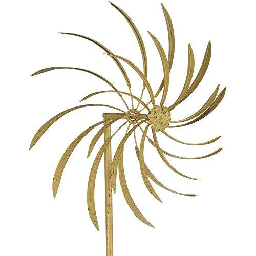 Siena Garden Windrad Mistral, Gartendeko, Metall, 47,5x23,5x198cm, grau,381597