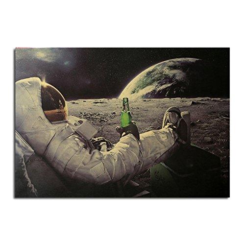 Inovey Les Astronautes Et Le Cola Affiche Papier Kraft Wall Poster Bricolage Wall Art 21 Pouces X 14 Pouces
