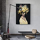 Geiqianjiumai Cartel Abstracto Encantador Retrato de Mujer Desnuda Pintura al óleo Lienzo Pintura sin Marco Pintura 60x80cm
