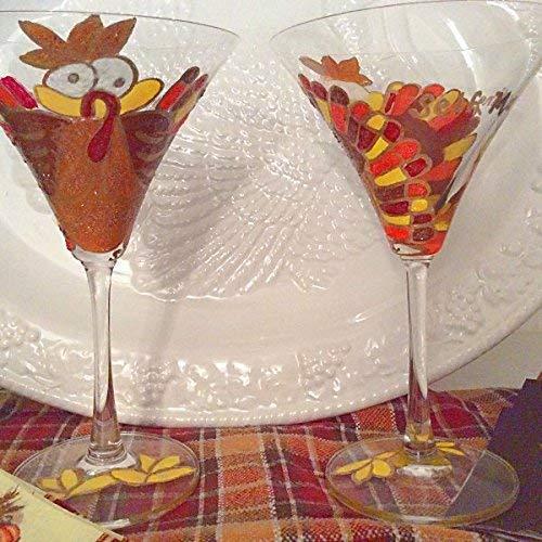 Fall Glasses,Autumn Glasses,Thanksgiving Glasses,Thanksgiving Glassware, Thanksgiving Drinking,