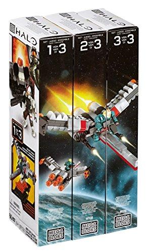 Mega Bloks Mattel Halo Bundle - Build & Combine Set bestehend aus UNSC C&C Console (97131), UNSC Hanger Deck (97133) & Forerunner Terminal (97170)