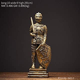 LHSY Vintage Metal Model Abstract Sculpture Home Decoration Industrial Decor Accessories Solider Buddha Statue Office Desk...