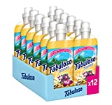 Fabuloso Ammorbidente Concentrato Vaniglia - Pacco da 12 x 1000 ml - Totale: 12000 ml