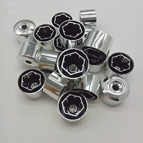 20 piezas tapas de perno de rueda de coche cubierta de tornillos de neumático para Volkswagen VW Polo Tiguan Passat B5 B6 B7 Golf 4 5 6 7 MK6 Jetta MK5 Bora Touran piezas de tornillo