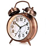 """Yonzone 4"""" Twin Bell Alarm Clock, Loud Mechanical Wind-Up Alarm Clock with Stereoscopic"""