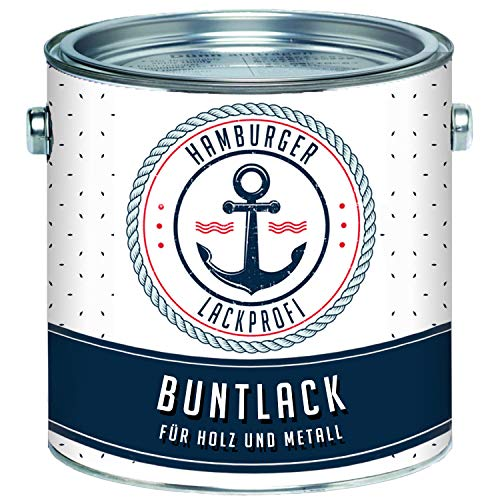 Buntlack GLÄNZEND für Holz und Metall Staubgrau RAL 7037 Grau Metalllack Metallfarbe Holzlack Holzfarbe // Hamburger Lack-Profi (2,5 L)